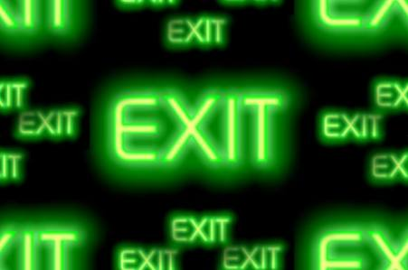 Exit neon sign large seamless repeating background fill