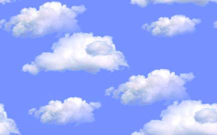 fluffy white clouds blue sky seamless background tile
