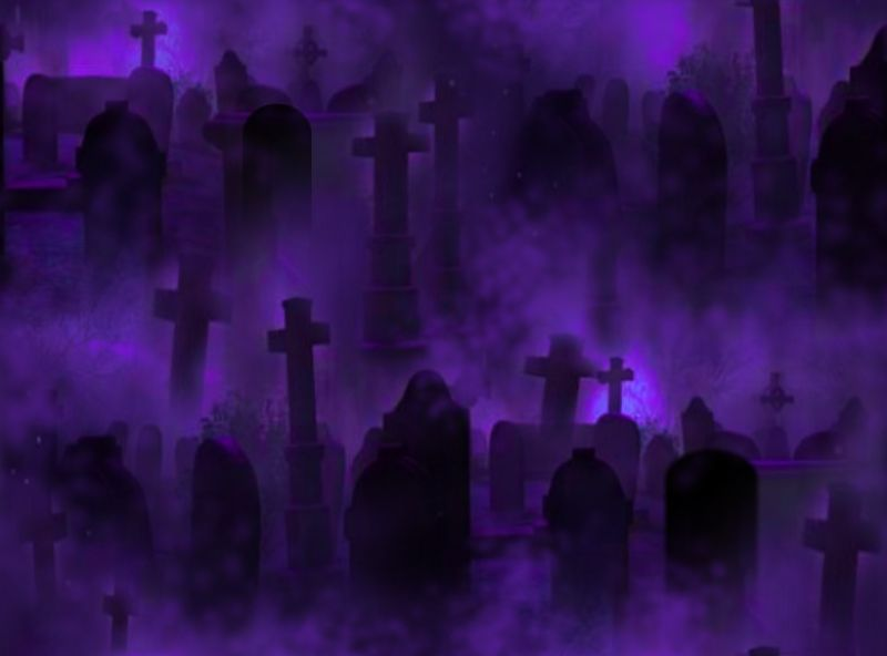 Graveyard Seamless Repeating Background Image Purple
