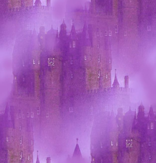 Vampire Background Misty Purple Castle Seamless